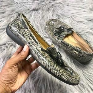 Sperry Shoes - Sperry top spider snake skin loafers size 7.5